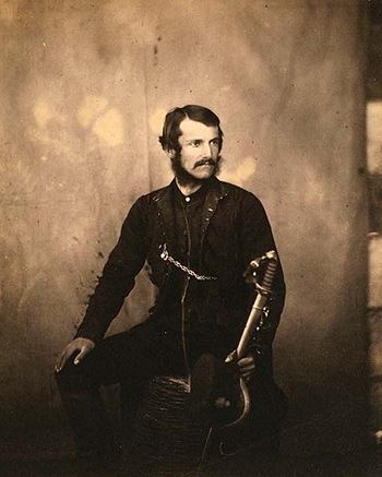 Captain Burnaby, Grenadier Guards, by Roger Fenton, Crimean War Photographs