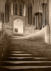 Cathedral Steps, Platinum Print by Frederick Evans