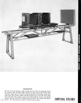 Deardorff Precision Camera Copying Stands