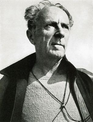 A portrait of Edward Weston by Ansel Adams, 1945