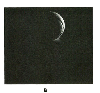 B. The remaining portion of the subject is outlined with a second light placed to the right, behind, and at about subject height.