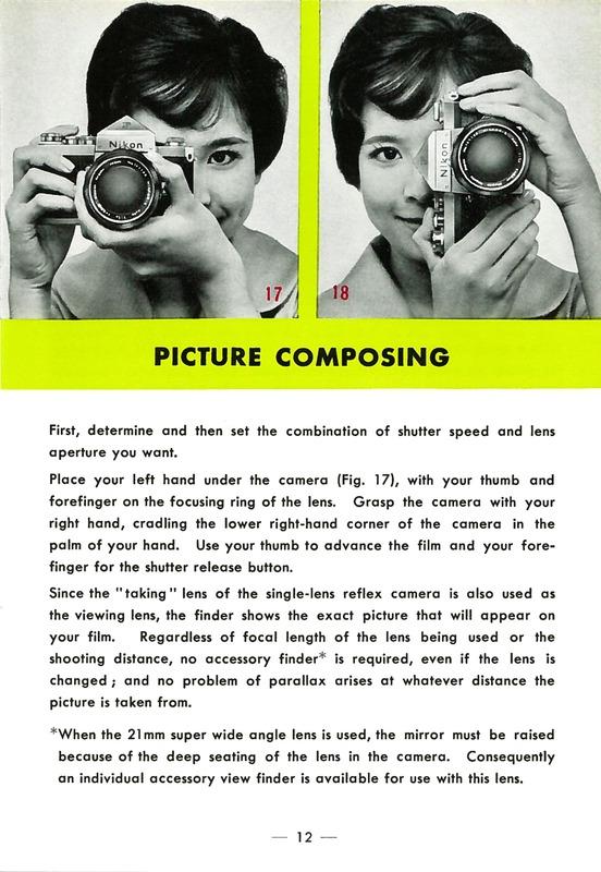 Nikon F Fully Automatic Single Lens Reflex Camera Instructions