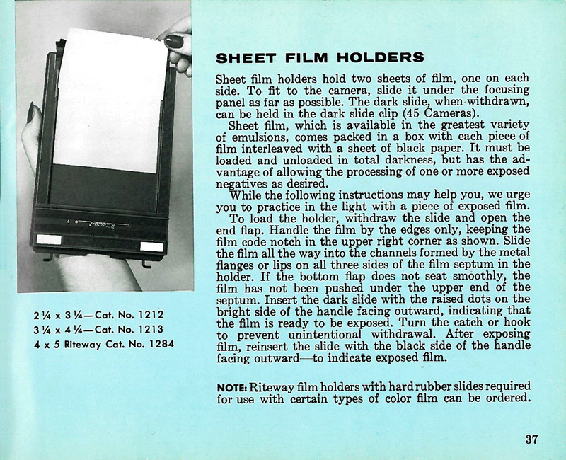 Graflex Sheet Film Holder for Pacemaker Crown Graphic and Speed Graphic Cameras