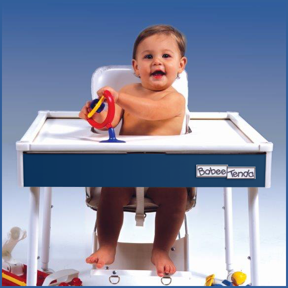 The modern (and last) version of the BabeeTenda Safety Feeding Table
