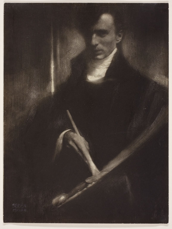 Edward Steichen, Self-Portrait with Brush and Palette, 1902 (Gum bichromate print)