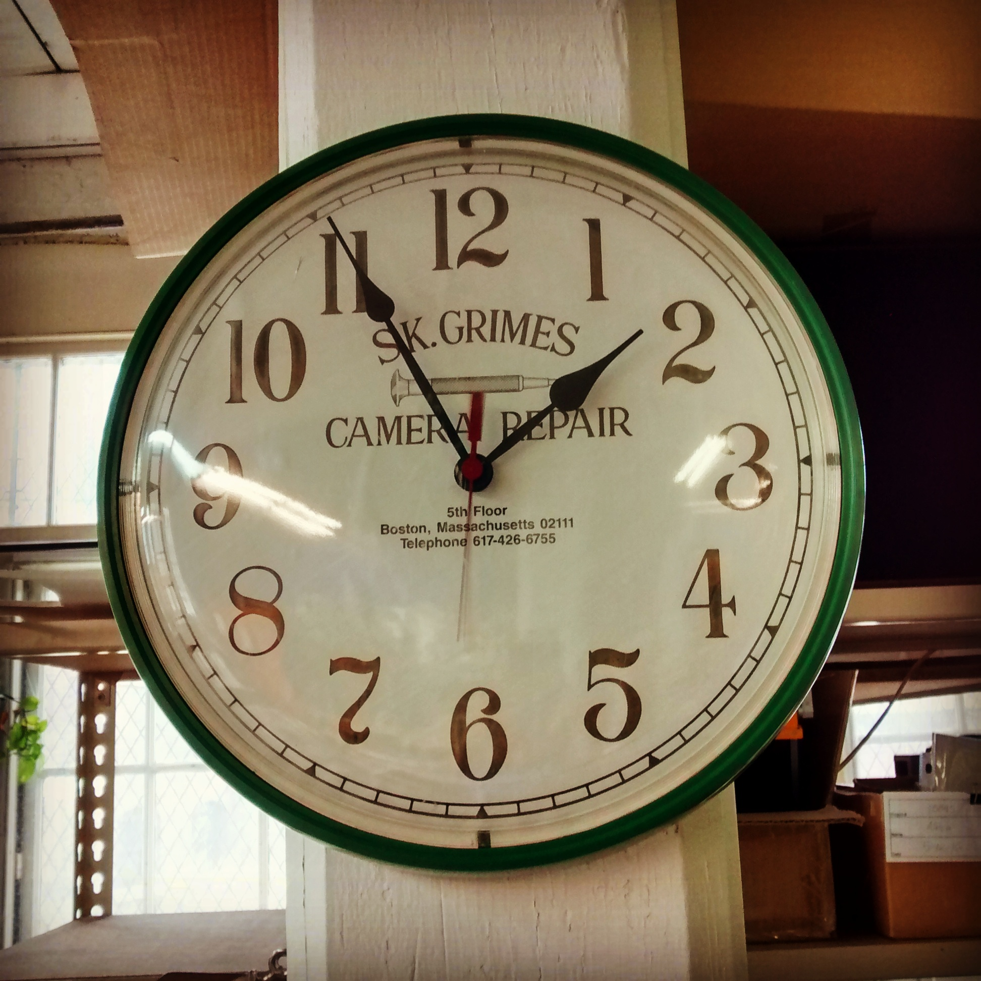 The Clock, S.K. Grimes Camera Repair